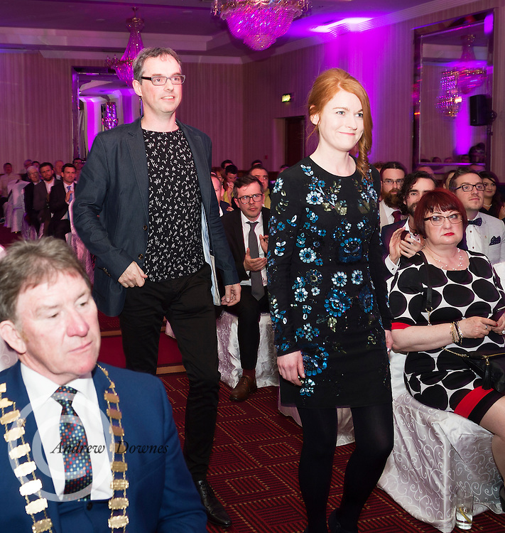 """report free. TG4, the Irish language television station, was presented with the Lifetime Achievement Award by President Michael D. Higgins at the Oireachtas Media Awards. Other winners on the night included Bláthnaid Ní Chofaigh for her weekly RTÉ Raidió na Gaeltachta show 'Bláthnaid Libh', Stíofán Ó Fearail, from Gaeltacht band Seo Linn and Alan Titley, Irish Times columnist.<br /> Best Radio Broadcaster went to Raidio na Gaeltachta's Rónán Mac Aodha Bhuí whilst Síle Nic Chonaonaigh took home the award for Best Television Broadcaster. Galway's Tara Breathnach won Best Actor for her role as the mother of an autistic boy in Maidhm.<br /> The annual awards, which took place in the Salthill Hotel, Galway, celebrate achievement and excellence in the Irish language media sector and honour actors, journalists, presenters, programme makers and others who have excelled in their contributions in the last year. A new category for Best Short Film was introduced this year and was won by Meangadh Fíbín for their film Snámh in aghaidh Easa.<br /> """"It's a huge honour to have the President present the awards, particularly as TG4 celebrates its 20th anniversary this year"""" said Liam Ó Maolaodha, Director of an tOireachtas. """"President Higgins played an integral part in the founding of the station and has always been an advocate for both Irish language media and the arts. These awards are one of the highlights of the Irish language media sector's calendar and reflect and celebrate the thriving industry that it's become,"""" he added.<br /> Independent filmmakers Magamedia took home the award for Best Television Series for EIPIC as well as Best Television Programme for Deoch an Dorais. The documentary tells the true story of Irishman Mike Malloy whosurvived over 20 attempts on his life in depression-era New York.<br /> Photos caption:<br /> Pictured at the Oireachtas Media Awards in the Salthill Hotel Galway was (winners of Best Television Series for EIPIC ) Executive Producer Paddy Ha"""