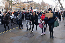 © Licensed to London News Pictures. 19/12/2020. London, UK. Protesters take part in an anti Covid-19 lockdown demonstration in Central London. The group against the current tier regulations and against vaccination for the Covid-19 disease. Photo credit: Ray Tang/LNP