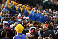 Illustration Europe fan during the friday morning fourballs session of Ryder Cup 2018, at Golf National in Saint-Quentin-en-Yvelines, France, September 28, 2018 - Photo Philippe Millereau / KMSP / ProSportsImages / DPPI