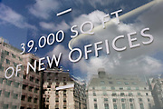39,000 sq feet of new office space being advertisised and soon available in the Square Mile, the capitals financial district, on 31st March 2017, in the City of London, England.