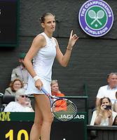 Lawn Tennis - 2021 All England Championships - Week Two - Thursday - Wimbledon - Ladies Semi final-   Karolina Pliskova v Aryna Sabalenka<br /> <br /> Karolina Pliskova<br /> <br /> Credit : COLORSPORT/Andrew Cowie