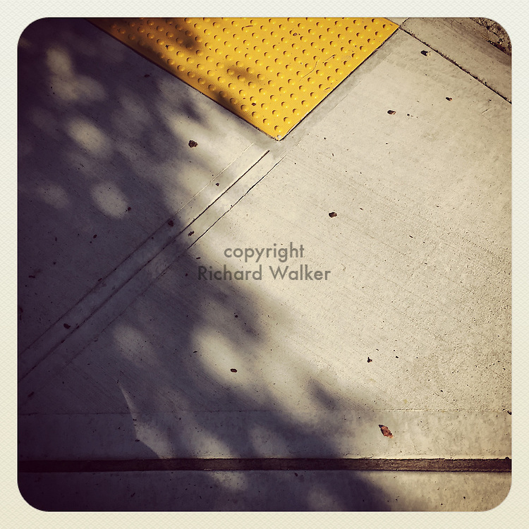 2016, Richard Walker, Seattle, WA, USA, Instagram, Apple, phone, iPhone, app, September, sidewalk, concrete, blind, angles, shadow,