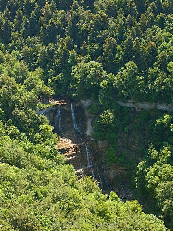 A Waterfall in the Jura region of France