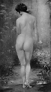 Baigneuse [Bather] by Bernard Bertoletti from Le Nu au Salon 1908 A collection of Nude photography published in Paris in 1908 by Société nationale des beaux-arts (France). et Société des artistes français. Catalogs of nudes exhibited at the official Paris Salons. Some years have two parts: The Salon held at the Champs Élysées sponsored by the Société des artistes français and the Salon held at the Champ de Mars sponsored by the Société nationale des beaux-arts