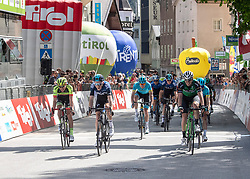 22.04.2019, Kufstein, AUT, Tour of the Alps, 1. Etappe, Kufstein - Kufstein, 144km, im Bild // v.l. 3. Platz Roland Thalmann (SUI, Team Vorarlberg Santic), Tao Geoghegan Hart (GBR, Team Sky) Etappensieger, 2. Platz Alex Aranburu (ESP, Caja Rural - Seguros RGA) during the 1st Stage of the Tour of the Alps Cyling Race from Kufstein to Kufstein (144km) in in Kufstein, Austria on 2019/04/22. EXPA Pictures © 2019, PhotoCredit: EXPA/ Reinhard Eisenbauer