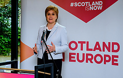 Nicola Sturgeon, First Minister of Scotland opening the Made in Scotland festival in Brussels on 11th June 2019 <br /> <br /> Brussels will get a taste of Scottish culture for a week, as the world-famous art festival alights in the Belgian capital on Tuesday  11 June 2019. <br /> <br /> The Edinburgh Festival Fringe, held in venues across the Scottish capital every year, came to Brussels under the name Made in Scotland Festival.<br /> For its Belgian edition, the event, sometimes referred to as The Fringe, features six different spectacles, including plays, concerts and dance shows.<br /> <br /> Andrew Wilson | Edinburgh Elite media