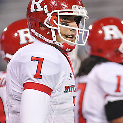 Oct 23, 2009; West Point, N.Y., USA; Rutgers quarterback Tom Savage (7) during warmups before his first away start at Army. He led his team to a 27 - 10 victory over Army at Michie Stadium.