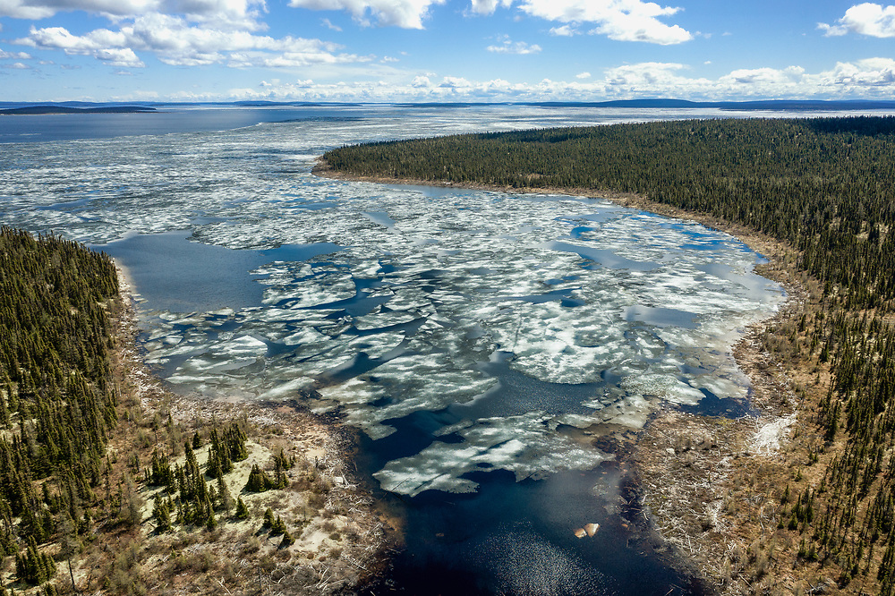 Caniapiscau Reservoir in the end of Trans-Taiga Road, Quebec