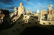 "Casa Mila (""La Pedrera"") by Antoni Gaudi. The roof terrace."