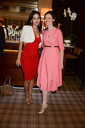 Left to right, YASMIN MILLS and SOPHIE ELLIS-BEXTOR at the Blue Monday Cheese Launch presented by Alex James and held at The Cadogan Hotel, Sloane street, London on 11th June 2013.