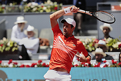 May 9, 2019 - Madrid, Madrid, Spain - Noval Djokovic during the Mutua Madrid Open Masters match on day 7 at Caja Magica in Madrid, Spain. May 09, 2019. (Credit Image: © A. Ware/NurPhoto via ZUMA Press)