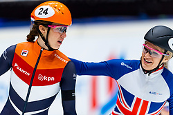 12-01-2019 NED: ISU European Short Track Championships 2019 day 2, Dordrecht<br /> 1500 meter Gold for Suzanne Schulting #24 NED,