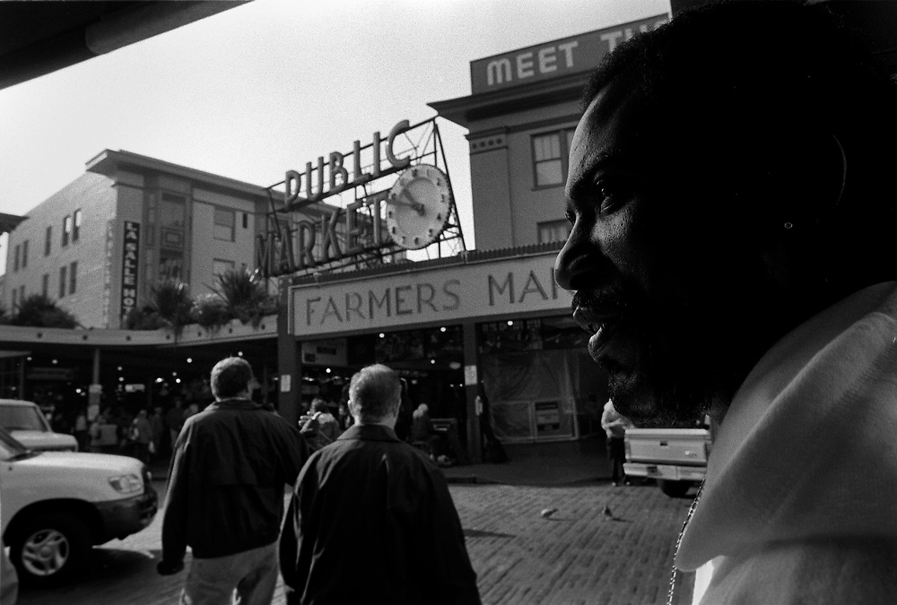 Tyron Gamble, recently released from Florida State Penitentiary, arrived in Seattle via cross-country bus paid for by the state of Florida. While trying to get his life in order and avoid the bad influences in his home state he landed in Seattle in search of a stable place to readjust to life without drugs and violence. This transition was tough for Gamble, who struggled to balance clean life at the City Team Ministries shelter and the insatiable pull to hard drugs in other parts of town. For the few weeks I was able to stay in contact with Gamble, he see-sawed between sobriety and an addict's life in Pioneer Square.