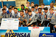 Amityville defeated Somers 2-1 to win the NYSPHSAA Class A boys' soccer championship at Faller Field in Middletown on Nov. 11, 2018.