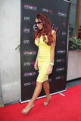© London News Pictures. Amy Childs arriving at the Easilocks VIP launch, Sanctum Soho Hotel London UK, 09 July 2013. Photo credit: Richard Goldschmidt/LNP