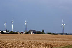 08 October 2007:  Electricity producing wind mill farm near Paw Paw Illinois
