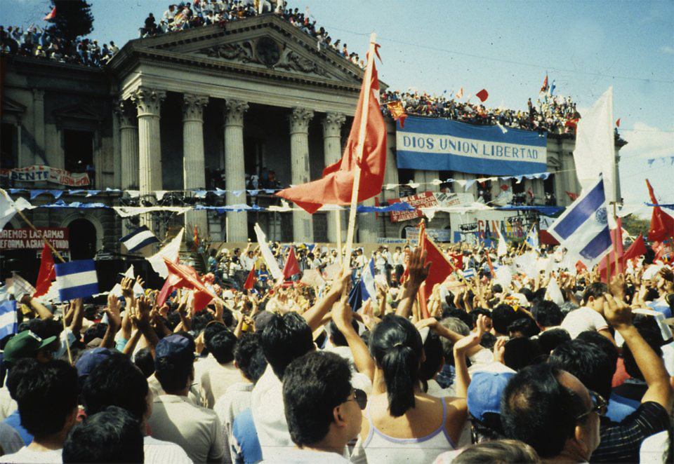 Celebrations in San Salvador for the signing of the peace agreement in Chapultepec, Mexico, ending the war in El Salvador.