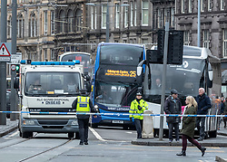 A suspect package was discovered in the Halifax premises on Edinburgh's Princes Street. The road was closed for over an hour whilst Bomb Squad attended before declaring the location safe.