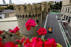 April 28, 2018 - Baku, Azerbaijan - Motorsports: World Championship; 2018; Grand Prix Azerbaijan, Grand Prix of Europe, Formula 1 2018 Azerbaijan Grand Prix, .#2 Stoffel Vandoorne (BEL, McLaren Honda), #2 Stoffel Vandoorne (BEL, McLaren Honda) (Credit Image: © Hoch Zwei via ZUMA Wire)