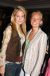 Left to right, MISS MARISSA MONTGOMERY and MISS MARTHA WARD at a party to celebrate the re-launch of the Polo bar at The Westbury Hotel, Bond Street, London W1 on 26th April 2005.<br /><br />NON EXCLUSIVE - WORLD RIGHTS