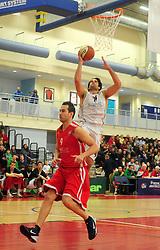 Essex Leopards' Jamelle Davis attempts a shot - Photo mandatory by-line: Dougie Allward/JMP - Tel: Mobile: 07966 386802 23/03/2013 - SPORT - Basketball - WISE Basketball Arena - SGS College - Bristol -  Bristol Academy Flyers V Essex Leopards