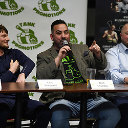 Tank Promotions boxing white collar press conference at the Meca in Swindon Wiltshire Uk