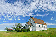 Old church in ghost town, Neidpath, Saskatchewan, Canada