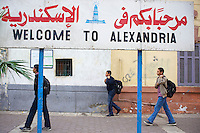 Egypte, la côte méditerranéenne, Alexandrie, Bienvenue à Alexandrie. // Egypt, Alexandria, welcome to Alexandria