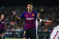 October 20, 2018 - Barcelona, Catalonia, Spain - Luis Suarez of FC Barcelona during the La Liga match between FC Barcelona v Sevilla FC at Camp Nou Stadium, in Barcelona on 20 of October, 2018. (Credit Image: © Xavier Bonilla/NurPhoto via ZUMA Press)
