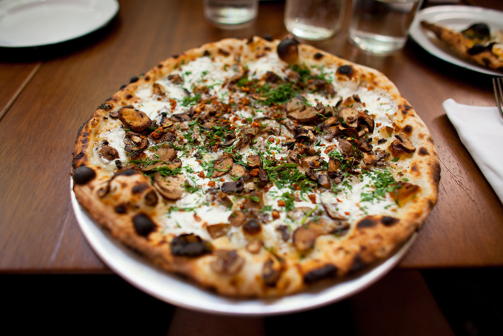 Mushroom Pizza at Bocce ($21.90) - Scrum Lunch