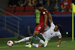 June 28, 2017 - Kazan, Russia - Eliseu (L) of Portugal national team and Mauricio Isla of Chile national team vie for the ball during FIFA Confederations Cup Russia 2017 semi-final match between Portugal and Chile at Kazan Arena in June 28, 2017 in Kazan, Russia. (Credit Image: © Mike Kireev/NurPhoto via ZUMA Press)