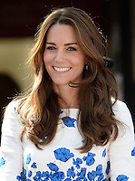 The Duke and Duchess of Cambridge visit Keech Hospice Care and tour the children's and adult hospices in Luton, Bedfordshire, UK, on the 24th August 2016.<br /> <br /> Picture by James Whatling