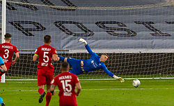 CARDIFF, WALES - Wednesday, August 19, 2020: Connah's Quay Nomads' goalkeeper Lewis Brass during the UEFA Champions League First Qualifying Round match between Connah's Quay Nomads FC and FK Sarajevo at the Cardiff City Stadium. FK Sarajevo won 2-0. (Pic by David Rawcliffe/Propaganda)