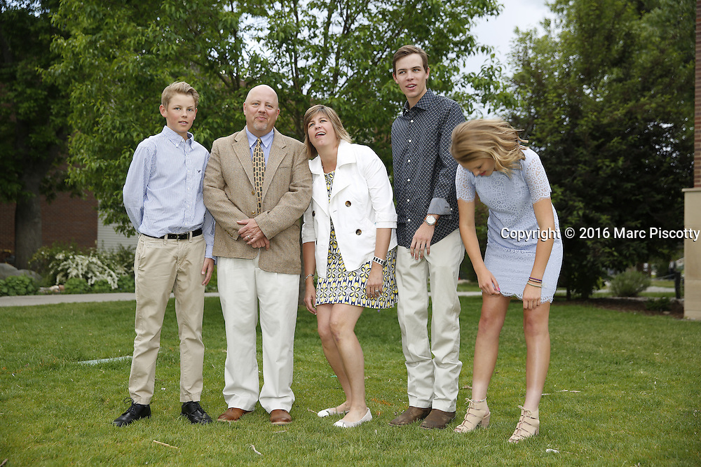 SHOT 6/1/16 6:38:00 PM - Colorado Academy Senior Class portrait in front of the Wellborn House and Class of 2016 Commencement Dinner at the Denver, Co. private school. (Photo by Marc Piscotty / © 2016)