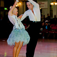 Liam Mclaren and Lenae Piconi from Australia perform their dance in the Amateur Rising Stars Latin-american competition of the Blackpool Dance Festival the most famous event among dance competitions held in Blackpool, United Kingdom on June 01, 2011. ATTILA VOLGYI