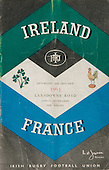 Rugby 1963 - 25/01 Five Nations Ireland Vs France