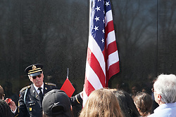 A veteran speaking to tourists at the Vietnam Veterans Memorial in Washington DC in the United States. From a series of travel photos in the United States. Photo date: Thursday, March 29, 2018. Photo credit should read: Richard Gray/EMPICS