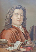 "Herman Boerhaave (31 December 1668 – 23 September 1738) was a Dutch botanist, chemist, Christian humanist, and physician of European fame. He is regarded as the founder of clinical teaching and of the modern academic hospital and is sometimes referred to as ""the father of physiology,"" Boerhaave introduced the quantitative approach into medicine. From the book La ciencia y sus hombres : vidas de los sabios ilustres desde la antigüedad hasta el siglo XIX T. 3  [Science and its men: lives of the illustrious sages from antiquity to the 19th century Vol 3] By by Figuier, Louis, (1819-1894); Casabó y Pagés, Pelegrín, n. 1831 Published in Barcelona by D. Jaime Seix, editor , 1879 (Imprenta de Baseda y Giró)"