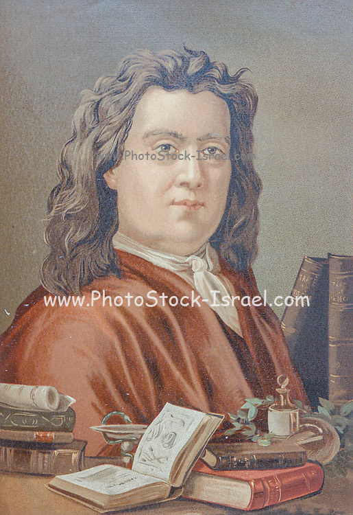 """Herman Boerhaave (31 December 1668 – 23 September 1738) was a Dutch botanist, chemist, Christian humanist, and physician of European fame. He is regarded as the founder of clinical teaching and of the modern academic hospital and is sometimes referred to as """"the father of physiology,"""" Boerhaave introduced the quantitative approach into medicine. From the book La ciencia y sus hombres : vidas de los sabios ilustres desde la antigüedad hasta el siglo XIX T. 3  [Science and its men: lives of the illustrious sages from antiquity to the 19th century Vol 3] By by Figuier, Louis, (1819-1894); Casabó y Pagés, Pelegrín, n. 1831 Published in Barcelona by D. Jaime Seix, editor , 1879 (Imprenta de Baseda y Giró)"""