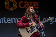 Biffy Clyro perform - #March4Women 2018, a march and rally in London to celebrate International Women's Day and 100 years since the first women in the UK gained the right to vote.  Organised by Care International the march stated at Old Palace Yard and ended in a rally in Trafalgar Square.