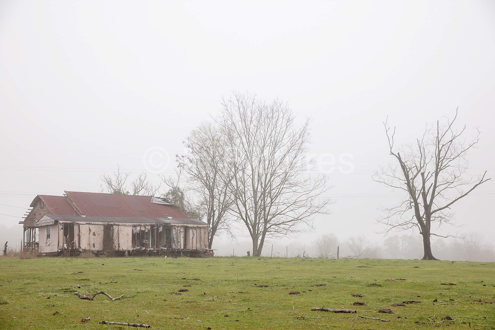 Derelict abandoned house by Highway on 5th March 2020 near Graceville, Alabama, United States of America.