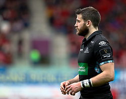Glasgow Warriors' Tommy Seymour<br /> <br /> Photographer Simon King/Replay Images<br /> <br /> Guinness PRO14 Round 19 - Scarlets v Glasgow Warriors - Saturday 7th April 2018 - Parc Y Scarlets - Llanelli<br /> <br /> World Copyright © Replay Images . All rights reserved. info@replayimages.co.uk - http://replayimages.co.uk
