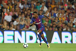 August 7, 2017 - Barcelona, Spain - Nelson Semedo of FC Barcelona during the 2017 Joan Gamper Trophy football match between FC Barcelona and Chapecoense on August 7, 2017 at Camp Nou stadium in Barcelona, Spain. (Credit Image: © Manuel Blondeau via ZUMA Wire)