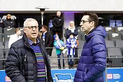 14.03.2015, Olympiastadion, Berlin, GER, 1. FBL, Hertha BSC vs Schalke 04, 25. Runde, im Bild Hertha-Praesident Werner Gegenbauer (li.) mit Hertha-Manager Michael Preetz,  // SPO during the German Bundesliga 25th round match between Hertha BSC and Hertha BSC vs Schalke 04 at the Olympiastadion in Berlin, Germany on 2015/03/14. EXPA Pictures © 2015, PhotoCredit: EXPA/ Eibner-Pressefoto/ Hundt<br /> <br /> *****ATTENTION - OUT of GER*****