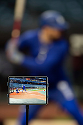 Oct 7, 2021; San Francisco, CA, USA; Los Angeles Dodgers outfielder Billy McKinney takes his turn in batting practice during NLDS workouts. Mandatory Credit: D. Ross Cameron-USA TODAY Sports