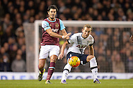 James Tomkins of West Ham United and Harry Kane of Tottenham Hotspur compete for the ball. Barclays Premier league match, Tottenham Hotspur v West Ham Utd at White Hart Lane in London on Sunday 22nd November 2015.<br /> pic by John Patrick Fletcher, Andrew Orchard sports photography.