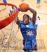 G/F Tony Mitchell (Swainsboro, GA / Swainsboro) dunks the ball during the NBA Top 100 Camp held Thursday June 21, 2007 at the John Paul Jones arena in Charlottesville, Va. (Photo/Andrew Shurtleff)