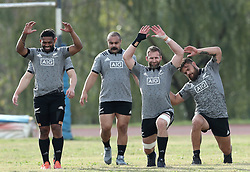 November 20, 2018 - Rome, Italy - Rugby All Blacks training - Vista Norther Tour.Captain Kieran Read with the teammates at University Sport Center in Rome, Italy on November 20, 2018. (Credit Image: © Matteo Ciambelli/NurPhoto via ZUMA Press)