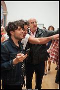 HUGO MARTINEZ; DAVID LACHAPELLE; MARIO VOENA, Royal Academy of Arts Summer Exhibition 2014. Piccadilly. London. 4 June 2014.