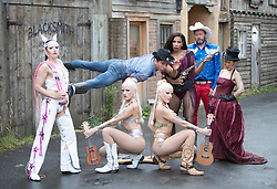 The Raunch cabaret circus playing at Underbelly as part of the Edinburgh Fringe Festival